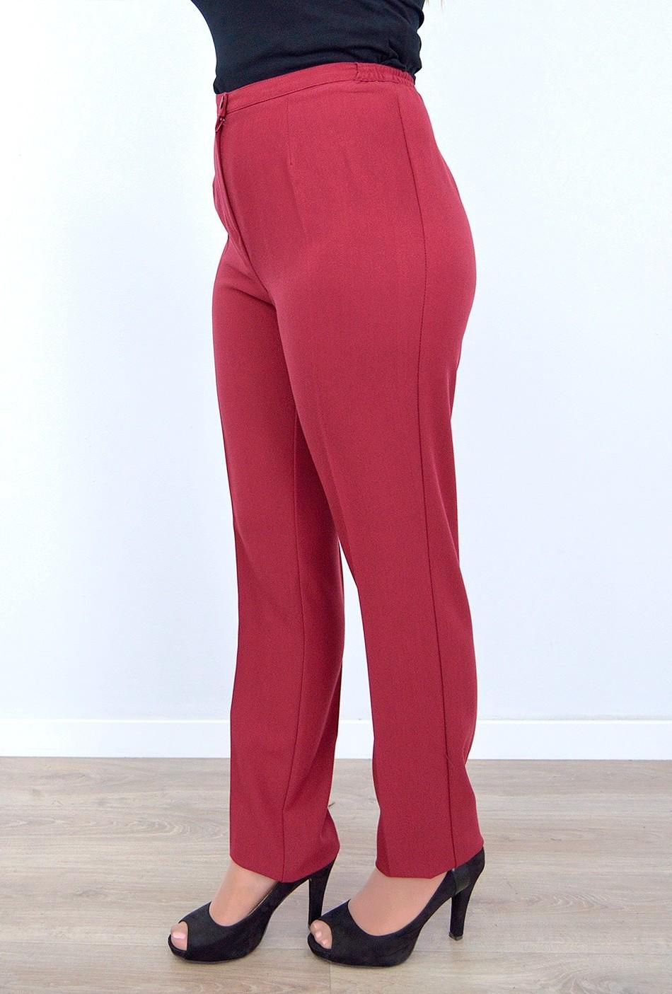Pantalon Cintura Goma Costado Vestir Bielastico Invierno