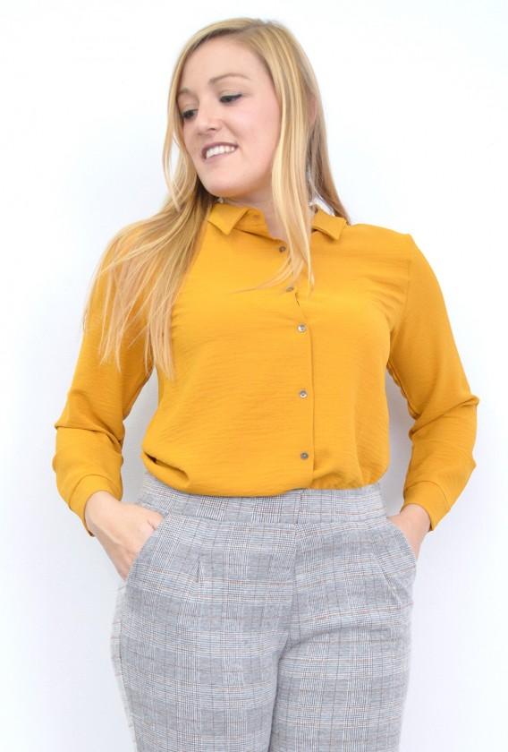 Camisa Lisa Botones