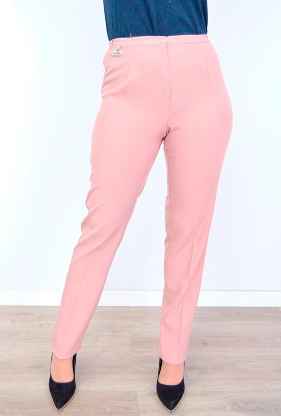 Pantalón vestir cintura con gomas en costado