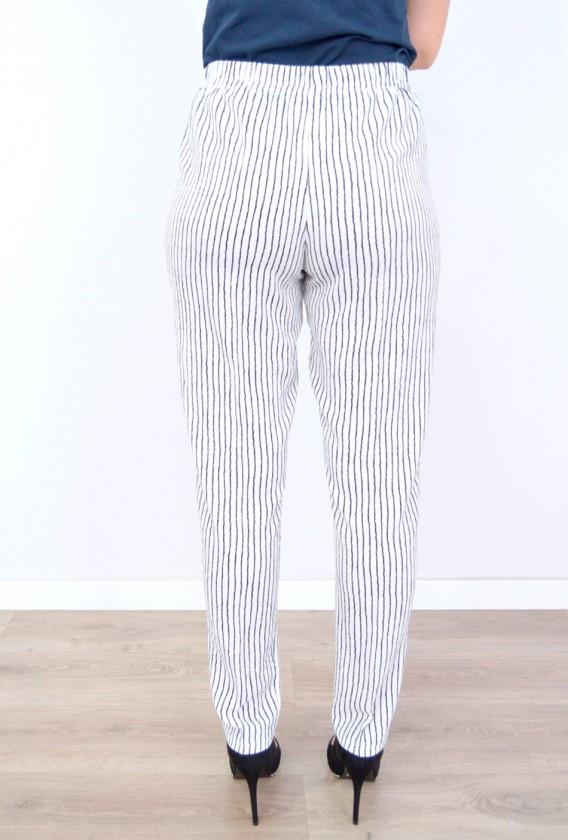 Pantalón Gomas Estampado Rayas
