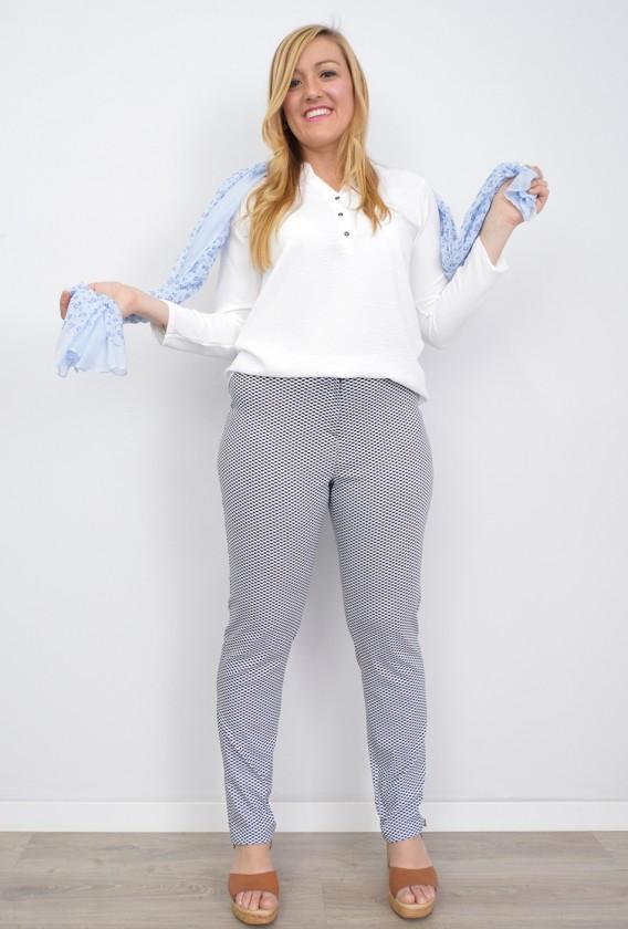 Pantalón Estampado Canesú Licra
