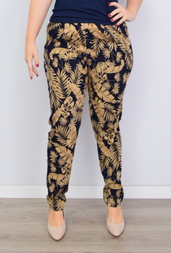 Pantalón Estampado Gomas/Pinzas