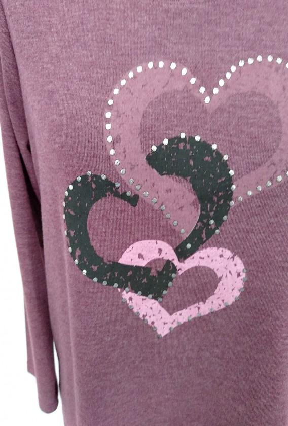 Camiseta 3 corazones