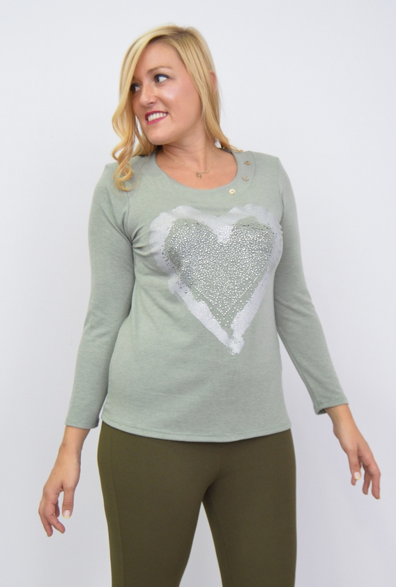 Camiseta Corazón 3 Botones