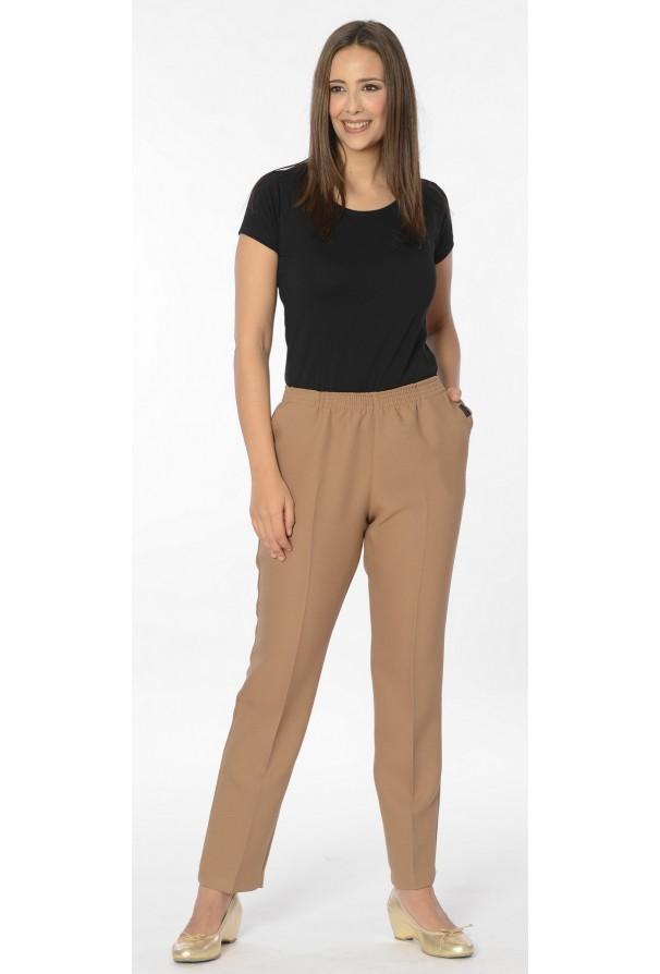 Pantalón invierno doble tela cintura elástica. Tallas: de la 42 a la 60